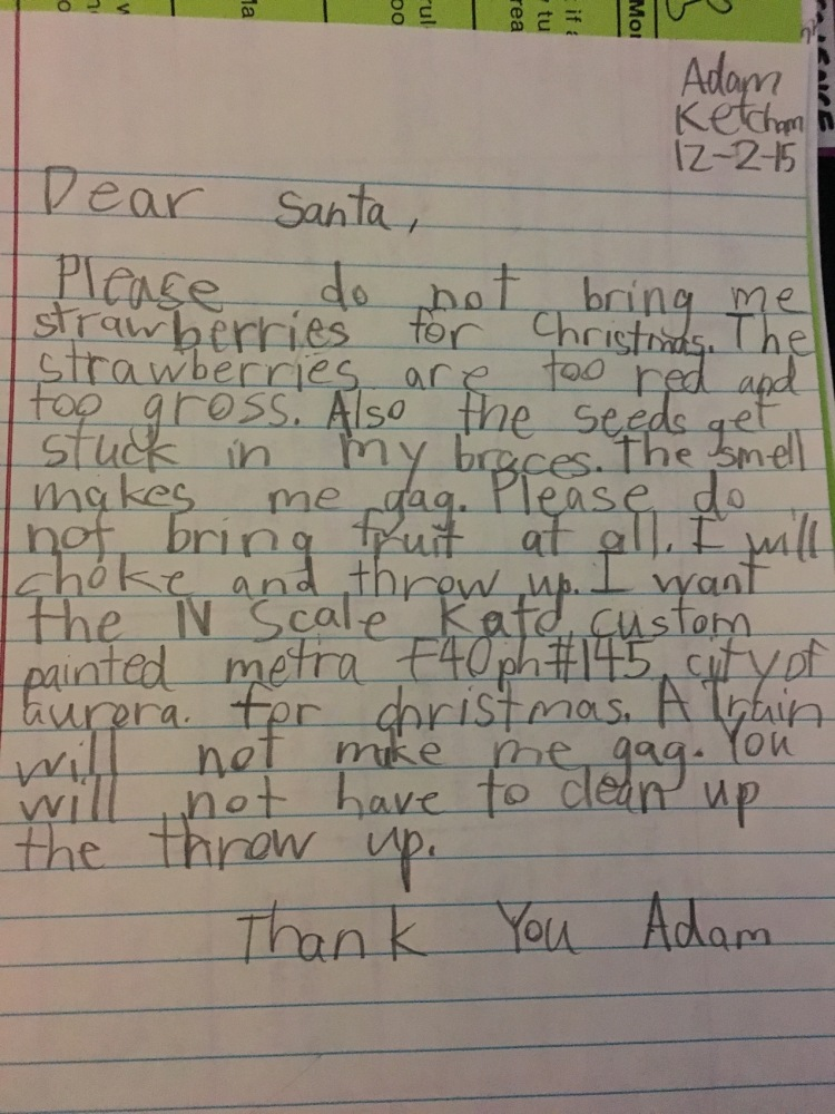 A Letter to Santa from Autism...